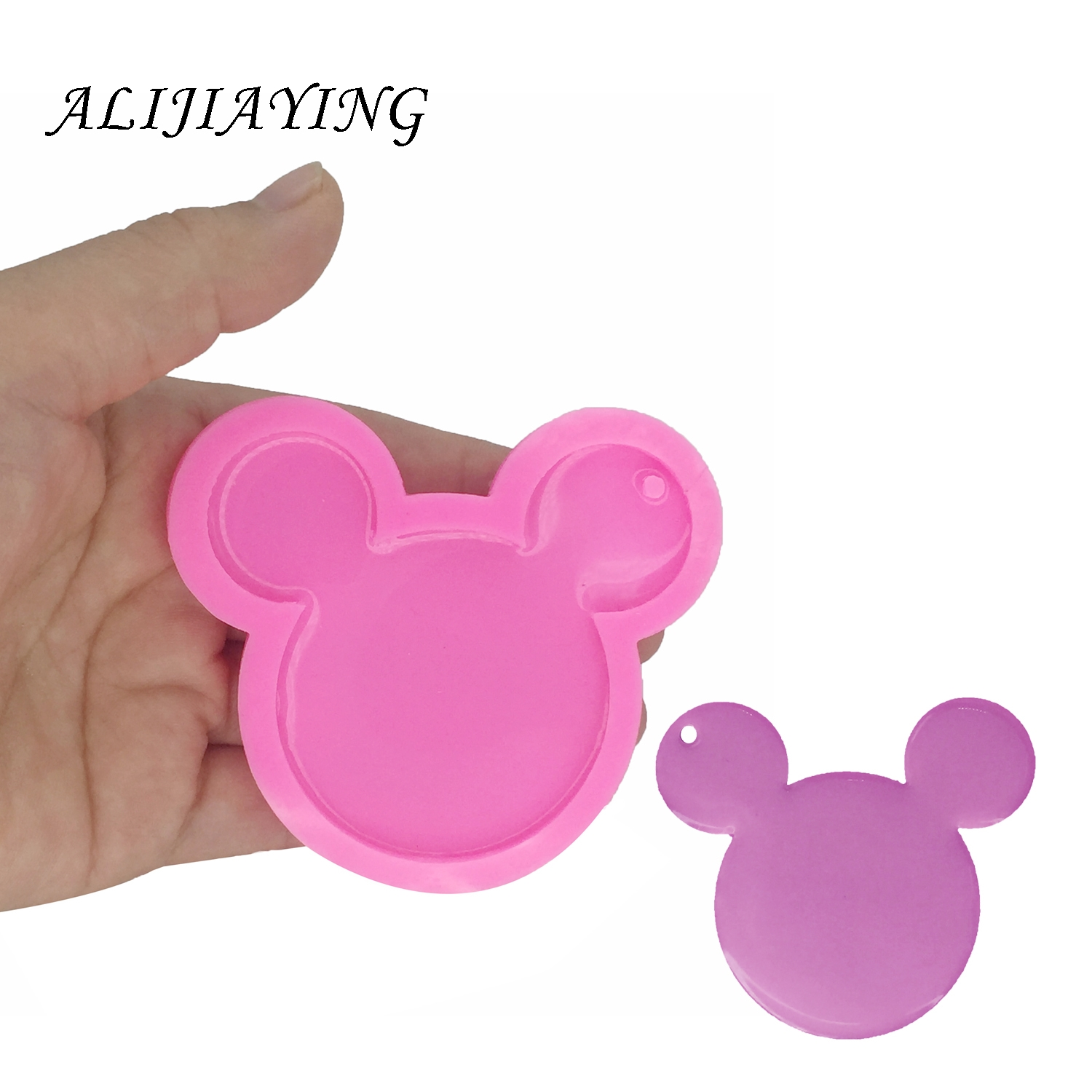 DY0055 DIY silicone shiny Mouse head mold for Key chain pendant decoration
