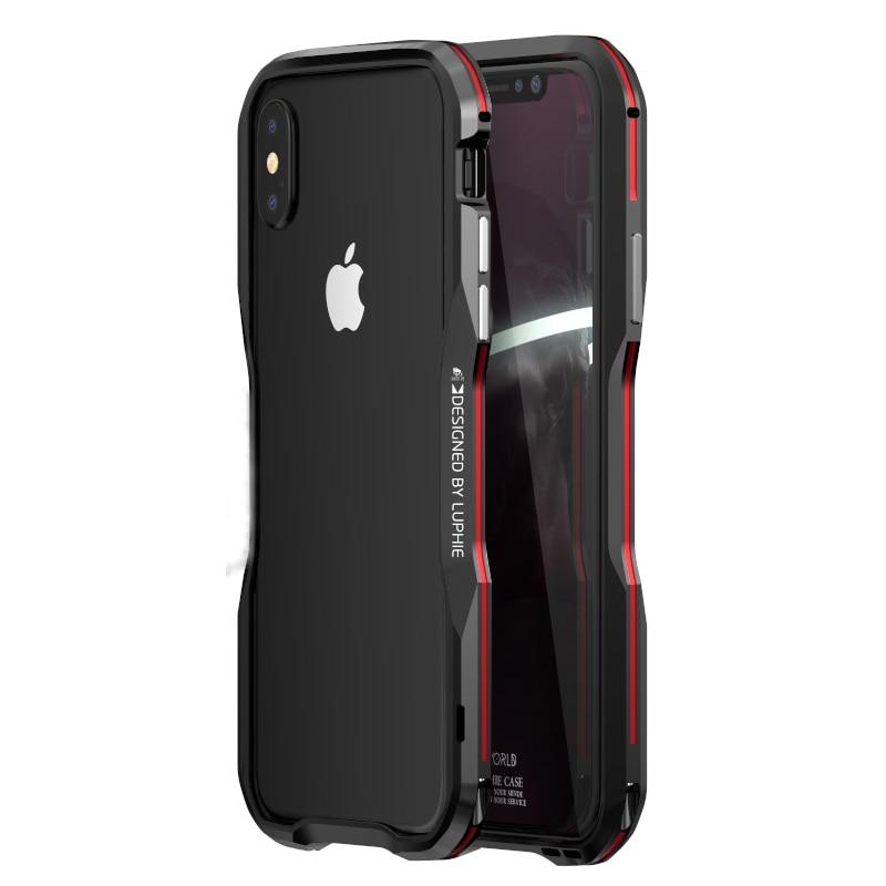 Luxus Metall Stoßstange Fall für iPhone XS Fall Aluminium Rahmen Harte 3D Schutzhülle für iPhoneX XS MAX XR 7 8 Plus Stoßstange Fall