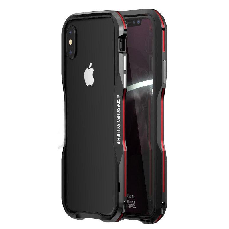 Para Apple iphone X caso de parachoques de la cubierta delgada 3D 360 Shell protector de parachoques de Metal para iphone X 8 marco de aluminio de la armadura