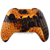 Gold Dragon Scales Patterned Full Shell Case Buttons For Xbox One Controller