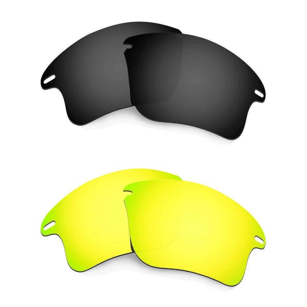 HKUCO para Fast Jacket XL lentes de reemplazo polarizadas negro y 24 K Oro  2 pares 2dc77850ea