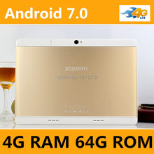 Android 7.0 tabletas 10 pulgadas tablet pc Octa Core 4 GB de RAM 64 GB ROM 8 Núcleos 1920*1200 MID Tablets IPS Embroma el Regalo 10.1 10