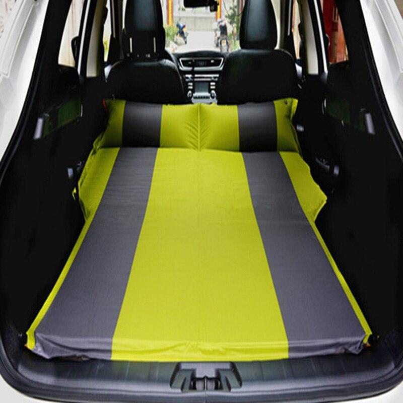 4 couleur SUV De Voiture matelas gonflable-Siège lit de voyage matelas gonflable Avec pompe à air Camping En Plein Air résistant à L'humidité Pad