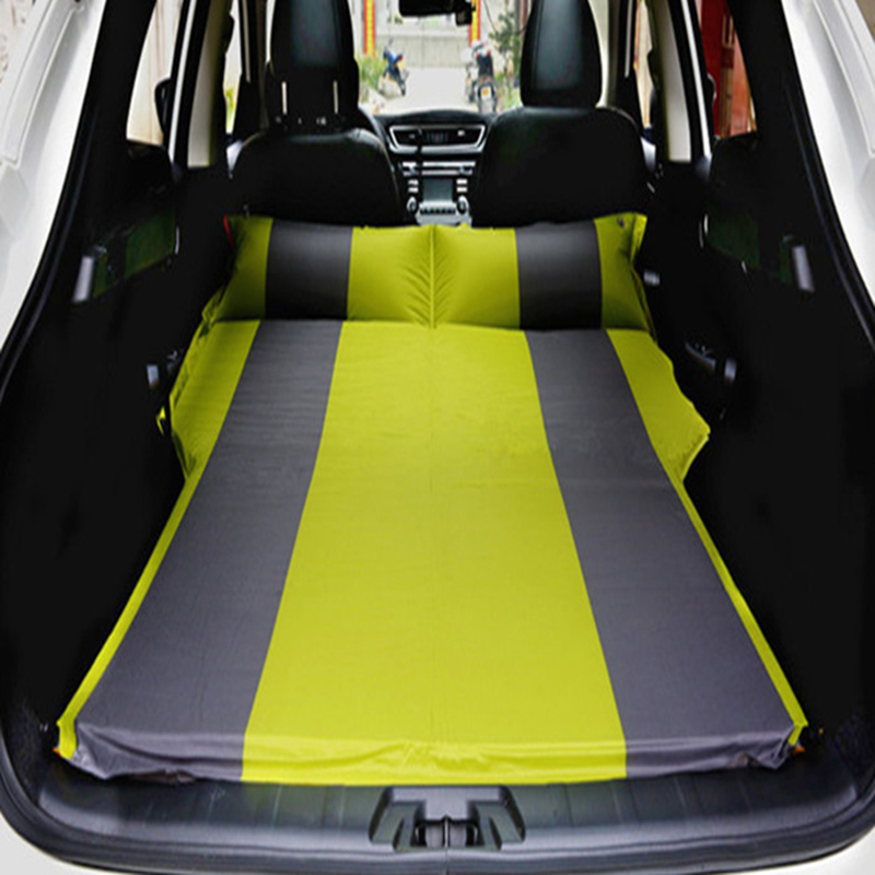 4Color SUV Car Inflatable Mattress Seat Travel Bed Air Mattress With Air Pump Outdoor Camping Moisture proof Pad