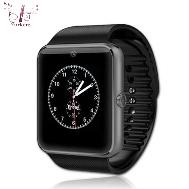 0d2854c596d Smart Watch GT08 Clock With Sim Card Slot Sync Notifier Bluetooth  Connectivity Android Phone relogio Smartwatch