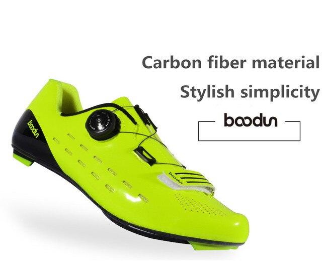 Fechadura para bicicletas de estrada, sapatos profissionais de grau de competição, fibra de carbono, ultraleve, 440g, antiderrapante, respirável, para bicicletas 3