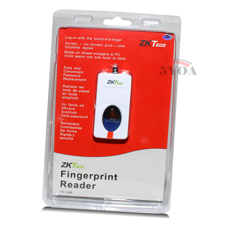 5YOA ZKTeco ZK9000 Digital Persona USB Bio Fingerprint Reader Sensor for Computer PC Home Office Free SDK URU5000 URU4500
