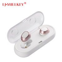 New 2018 TWS Bluetooth headset Stereo Music Earphone built in Mic Small Wireless Earbud with Recharge battery LJ MILLKEY YZ123