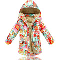Hooded cartoon down Kids winter coat girls 2016 new  fashion children warm  thick down jacket for girls parka outerwear T0222