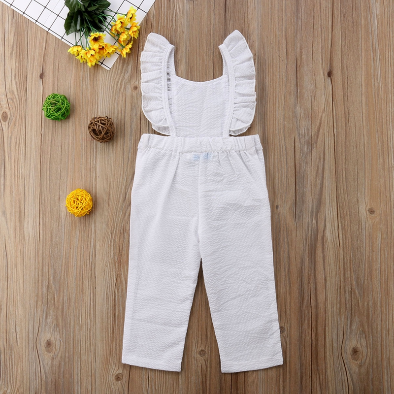 New Solid Toddler Infant Baby Girls Jumpsuit   Romper   Long Pant Clothes Outfits Playsuit