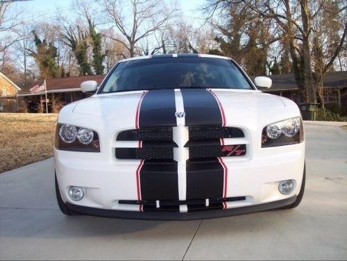 """For Dodge Mopar Charger Matte Black 10"""" Red 1/2"""" Racing"""