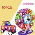 90 pcs Blocos Magnéticos Educacionais Crianças Desenhador Magnético Luta Inserido Buidling Brinquedos para As Crianças