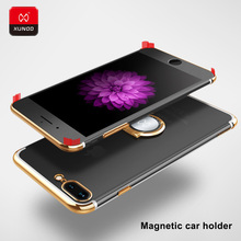 Luxury Ultra Slim Plating Hard PC Transparent Back Case For New iPhone 7 8 Plus Phone Protective Cover Cases Magnetic car holder стоимость