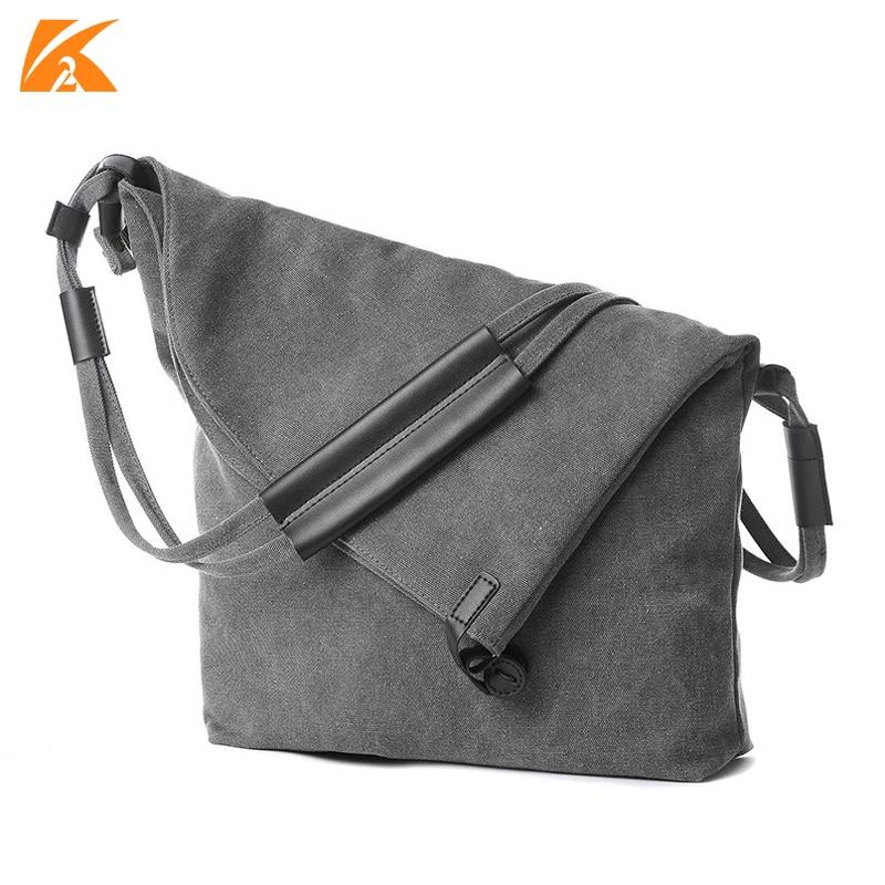 KVKY Large Capacity Women's Canvas Shoulder Bags Horse Leather Female Crossbody Bag For Woman Messenger Bags Tote Bolsa Feminina