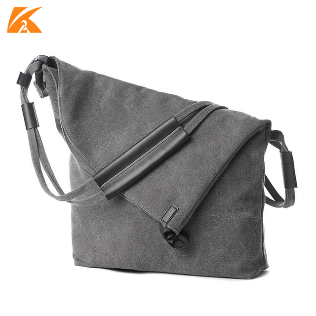 48e84975d8c5 KVKY Large Capacity Women s Canvas Shoulder Bags Horse Leather Female  Crossbody Bag For Woman Messenger Bags