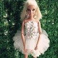 2016 Куклы Аксессуары Уникальный Стиль Милая Короткие Балета Белый Платье Принцессы Куклы