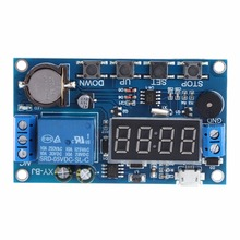 цена на Trigger Cycle Timer Delay Switch 12V 24V Relay Switch Module 24H Timing Control