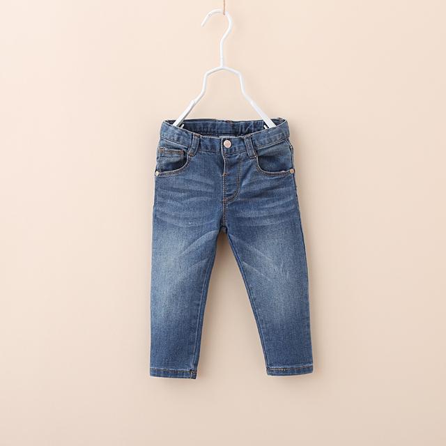 Venda Hot spring outono Z marca de roupas de bebê meninos meninas calças de brim do bebê crianças calças casuais 100% algodão 9-36 meses bebe
