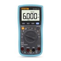 True RMS Dijital Multimetre 6000 Sayımlar Otomatik/manuel aralığı AC/DC Ampermetre Voltmetre Ohm Kapasite Sıcaklık Diyot tester VC17B +