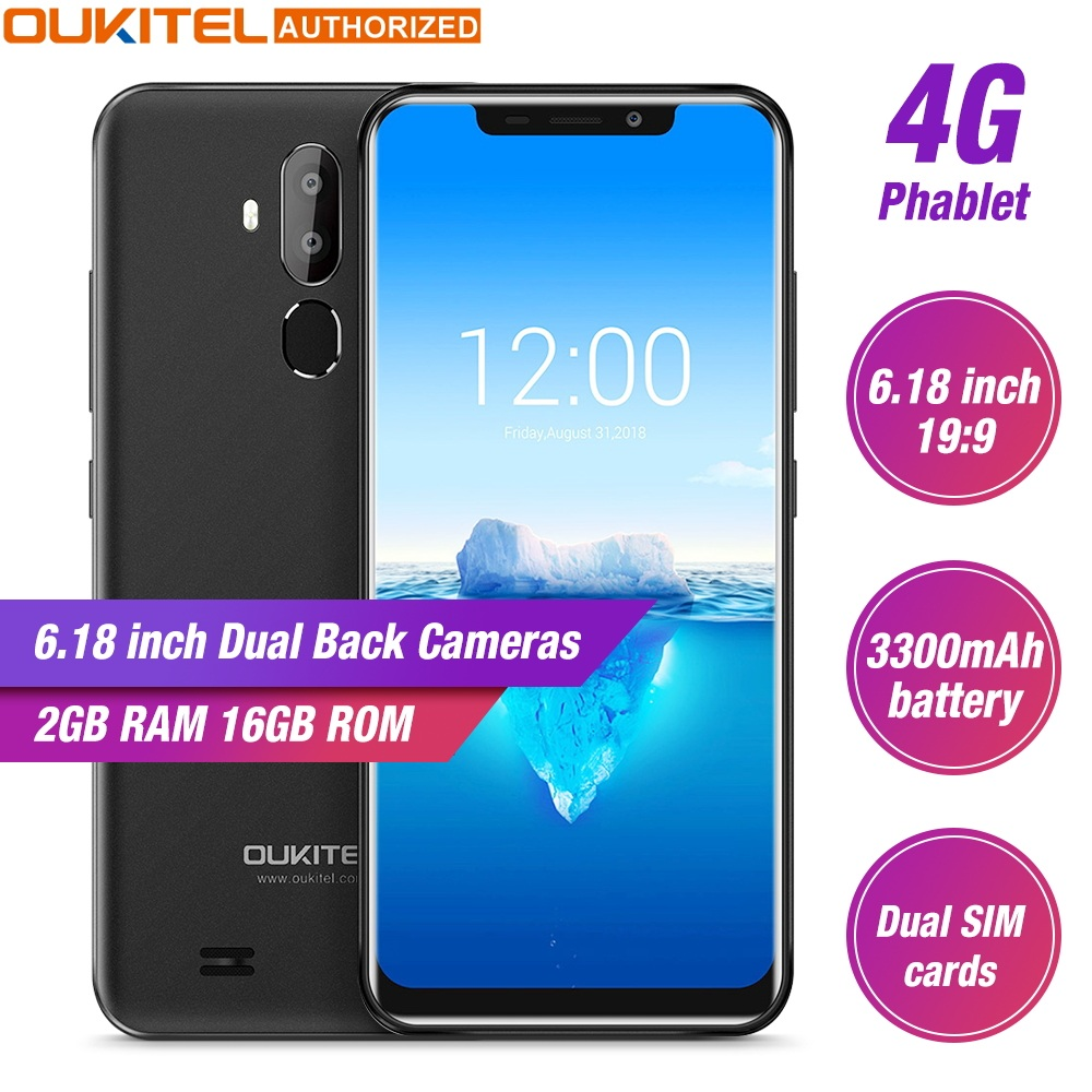 Oukitel C12 Pro 4G 6.18 19:9 Android 8.1 Face ID 2GB RAM 16GB ROM 3300mAh Mobile Phone MT6739 Quad Core Fingerprint SmartphoneOukitel C12 Pro 4G 6.18 19:9 Android 8.1 Face ID 2GB RAM 16GB ROM 3300mAh Mobile Phone MT6739 Quad Core Fingerprint Smartphone