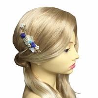 쉘 꽃 머리 빗 웨딩 헤어 액세서리 바위 빗 신부 머리 장식 장식품 머리 보석 Pince Cheveux 신부 WIGO1034