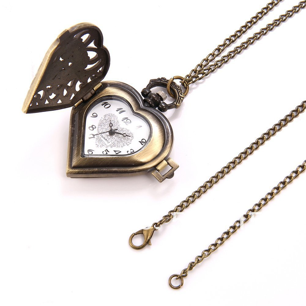 watches quartz shop rose carved lockets vintage watch i necklace locket love