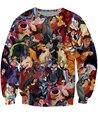 new fashion 2016 cartoon femme homem camisolas Toy Story Villains Crewneck Sweatshirt crazy hoodies clothing for women men