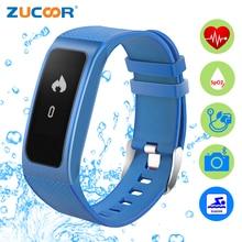 Zucoor умный Браслет Фитнес импульса Мониторы Band Bluetooth IP68 браслет шагомер RB57 здоровья спортивные Приборы для измерения артериального давления Браслеты