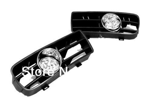 Front Fog Light Kit Blue LED For VW Golf MK4 bumper grille front fog light kit with led surround for vw golf mk4