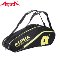 Alpha pack 6 sets of Tennis badminton shoulder bag waterproof sport bags to prevent the racket