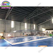 12x6x3m inflatable swimming pool dome tent, transparent inflatable pool cover tent with factory price