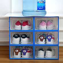 6PCS Shoes Box Flip Thickened Transparent Drawer Case Plastic Shoe Boxes Stackable Storage Shoeboxstorage Shoerack