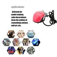 Portable spray gun Oxygen Inject Machine Airbrush Set Pump Pen Set Air Compressor Kit Art Painting Tattoo Craft DIY Nail Paint