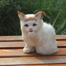 custom furry fake fur garden decoration cat