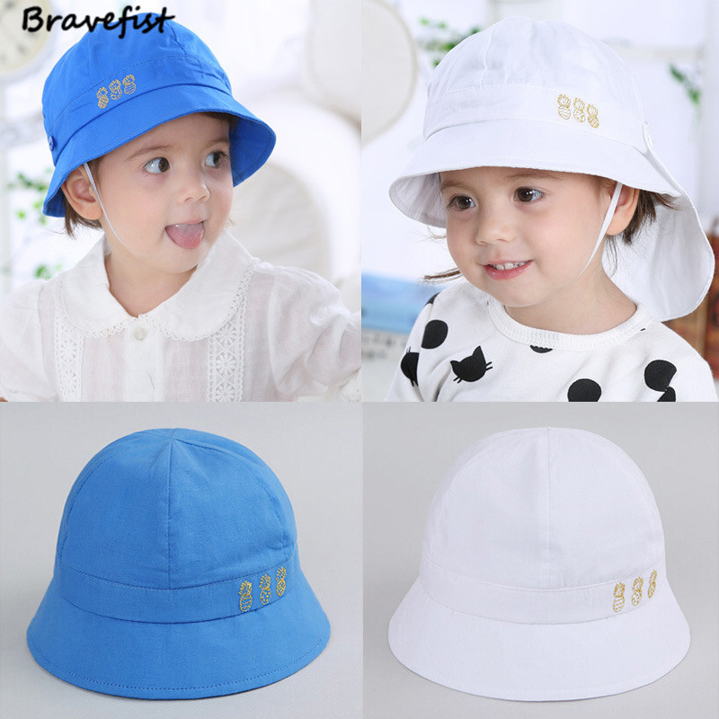 ca10d928d US $3.98 20% OFF|Baby Bucket Sun Hat Cartoon Children Spring Autumn Caps  Baby Girls Fisherman Straw Hat Kids Boys Girls Caps Infant Bucket Hats-in  ...