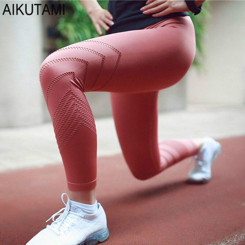 Haute Taille Gym Legging Yoga Workout Pants Leggings Sport Remise En Forme Sans Soudure Creux Fitness Femmes de Course Scrunch Joga Pantalon dans Yoga Pantalon de Sports et loisirs