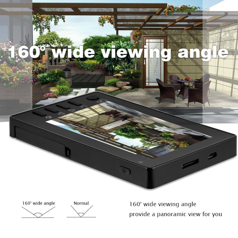 4,3 TFT Цвет ЖК-дисплей Смарт Цифровой глазок Камера HD Ночное Видение безопасности Камера монитор дверной звонок ПИР обнаружения движения