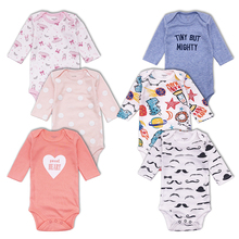3pcs/lot newborn bodysuits Cotton Long sleeve Baby Boys Girls clothes Cartoon Infant Jumpsuits Clothing Set
