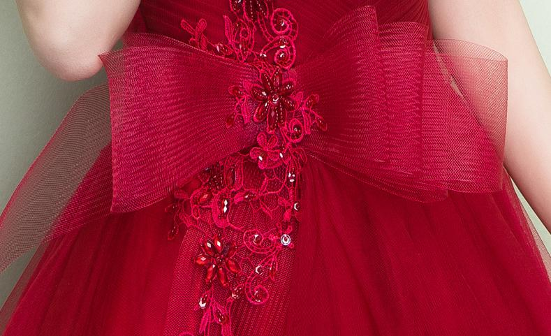 BANVASAC 2018 A Line Sexy Pleat V Neck Lace Crystal Appliques Long Evening Dresses Party Bow Backless Prom Gowns in Evening Dresses from Weddings Events