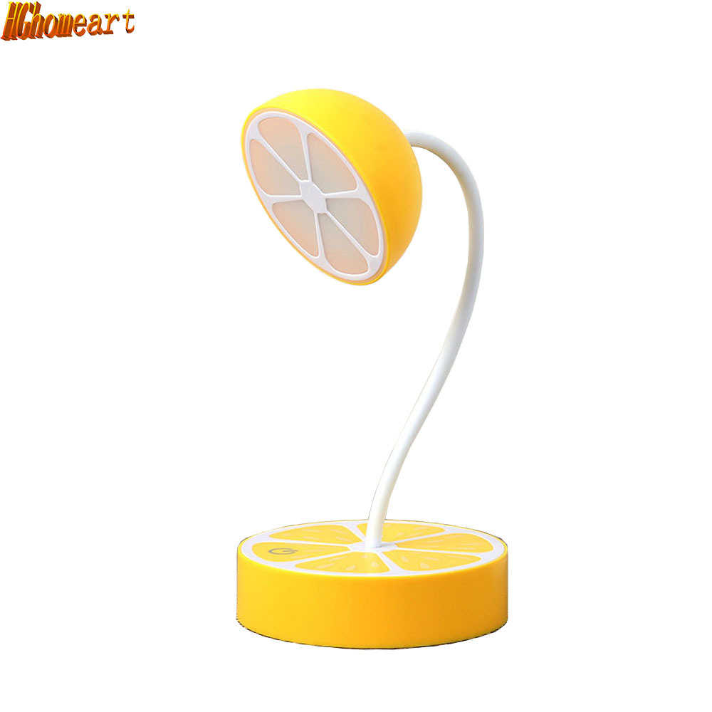 ФОТО LED Contemporary Table Lamps Student Bedroom USB Lemon Touch Table Lamp 110V-220V Cute Purple Orange Reading Bed Light