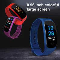 Smart Sport padomètre Bracelet couleur écran étanche IP67fitness montre battement de coeur pression artérielle course pas à pas podomètre