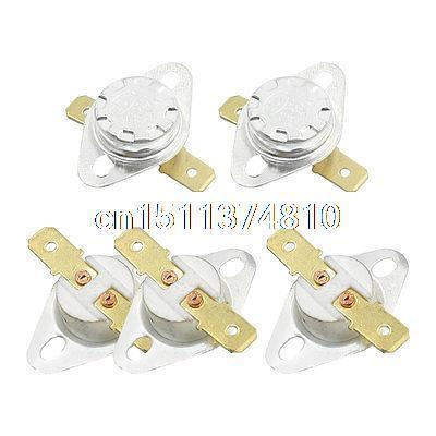 5Pcs NC Ceramic Temperature Switch Thermostat 250 Degree Celsius KSD301 4 x bimetal temperature switch thermostat 85 degree celsius nc ksd 9700