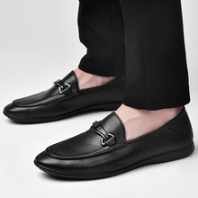 2018 New Mens Casual Shoes Genuine Leather Loafers Top Layer British Fashion  5