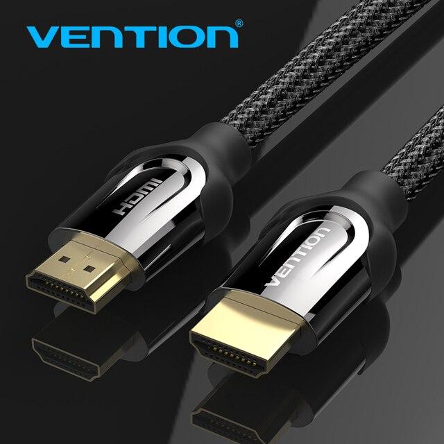 Vention кабель HDMI-HDMI 2,0 4 К 3D 60FPS кабель для HD ТВ ЖК-дисплей ноутбука PS3 проектор компьютерный кабель 1 м 2 м 3 м 5 м