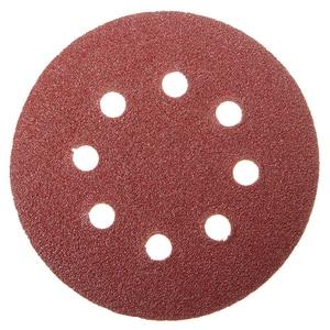 Image 4 - 100 шт. 5in шлифовальный диск 60/80/100/120/240 Грит лист наждачной бумаги на застежке липучке шлифовальный диск для наждачная бумага шлифовальный диск