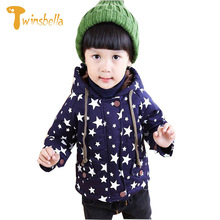 TWINSBELLA Baby Boys Winter Coat 2017 Fashion Children Long Sleeve Hoodies Jacket Kids girls Autumn Star