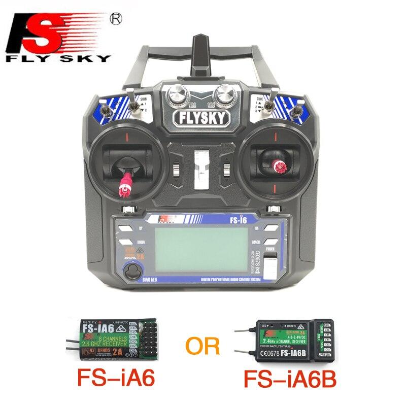Flysky FS i6 FS I6 6ch 2.4G RC Transmitter Controller พร้อม FS iA6 หรือ FS iA6B สำหรับเครื่องบินเฮลิคอปเตอร์ RC Quadcopter เครื่องร่อน-ใน ชิ้นส่วนและอุปกรณ์เสริม จาก ของเล่นและงานอดิเรก บน   1