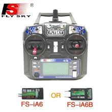 Flysky transmisor controlador con receptor de FS i6 o FS iA6 para helicóptero RC, avión, Quadcopter, planeador, FS I6 6ch 2,4G RC