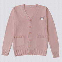 NiceMix 2016 Casual Harajuku Cardigan Women Sweater Sweet Sailor Moon Embroidery Patch Cardigans Knitted Sweaters Women
