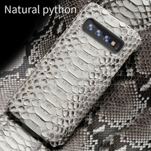 Echt Python Leer Telefoon Geval Voor Samsung Galaxy S10 Plus S9 S7 S8 Plus Snakeskins Cover Voor A50 A70 A71 a51 2020 A8 A7 2018